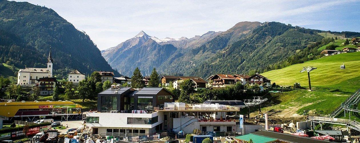 Panoramabild der Gemeinde Kaprun von oben